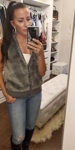 BCBG faux fur vest - PRICE DROP!!
